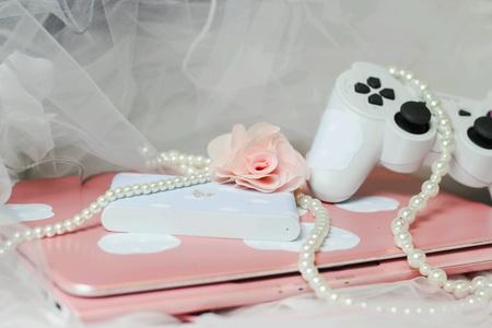 girly: PlayStation vitatv notebook pink girly