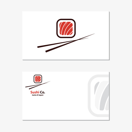 Vector  design element with business card template on white background.