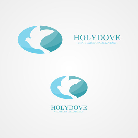 doves: Vector design element with business card template.