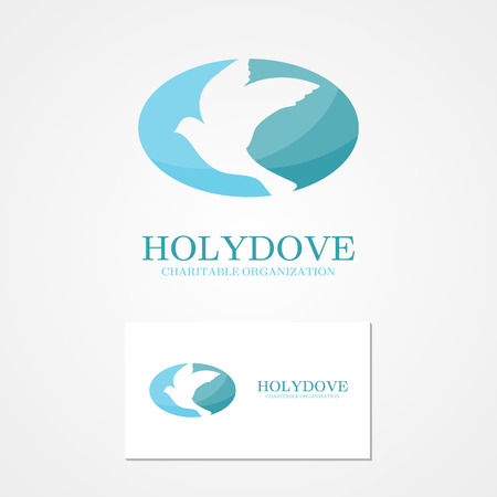 symbols of peace: Vector design element with business card template.