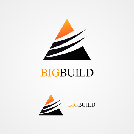 construction companies: Vector logo design element with business card template.