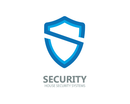 security icon: Vector design element with business card template.