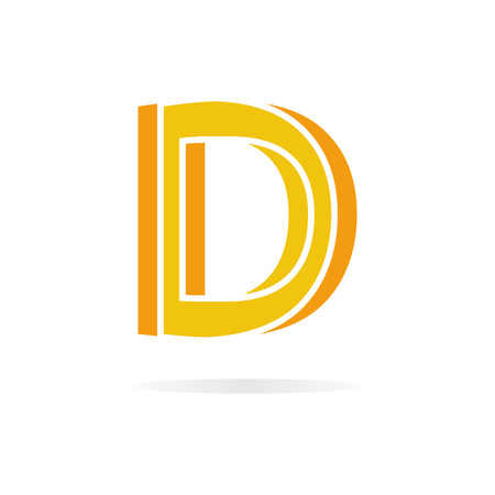 letter d: Vector design element with business card template.