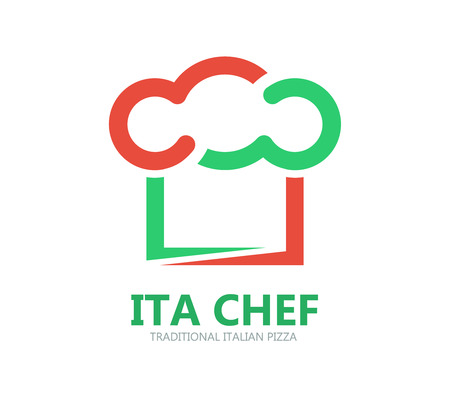 italian chef: Vector design element with business card template.