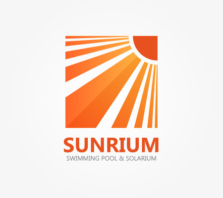 solarium: Vector design element with business card template.