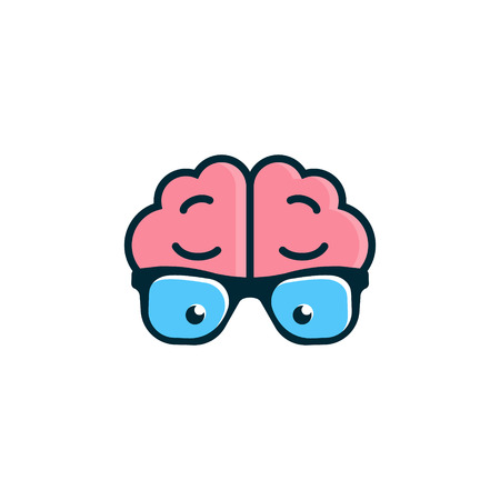 brain: Vector design element with business card template.