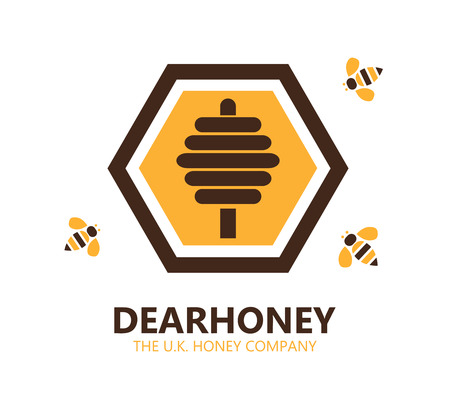 honey: Vector design element with business card template.