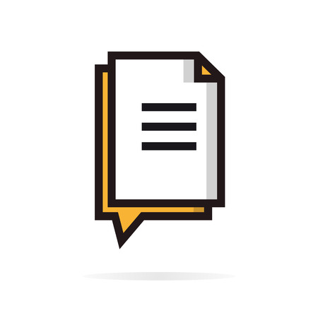 documents circulation: Electronic Digital Document File data transfer concept idea.