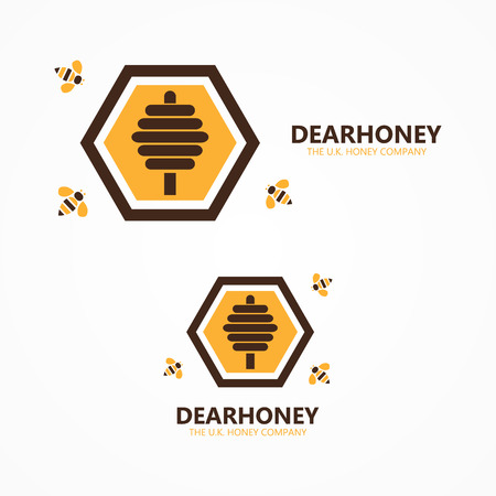 hives: Vector design element with business card template.