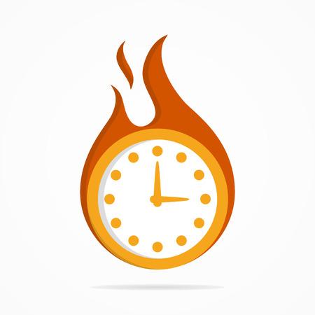 reloj: Logo Vector elemento de dise�o con tarjeta de plantilla.