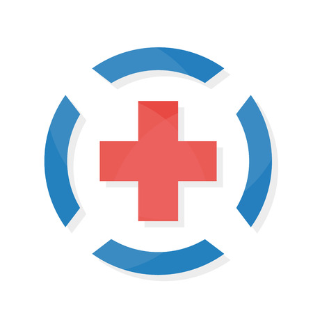 medic: Vector logo design element with business card template.
