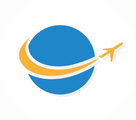 logotipo turismo: Logo Vector elemento de diseño con tarjeta de plantilla.