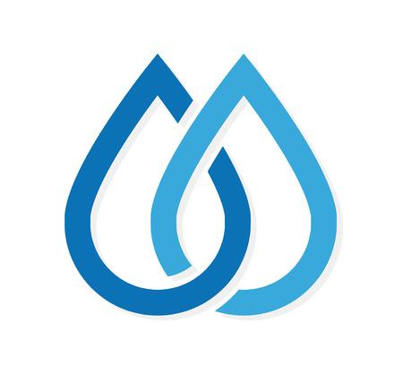 kropla deszczu: Wektor element projektu z szablonu wizytówki. Ilustracja