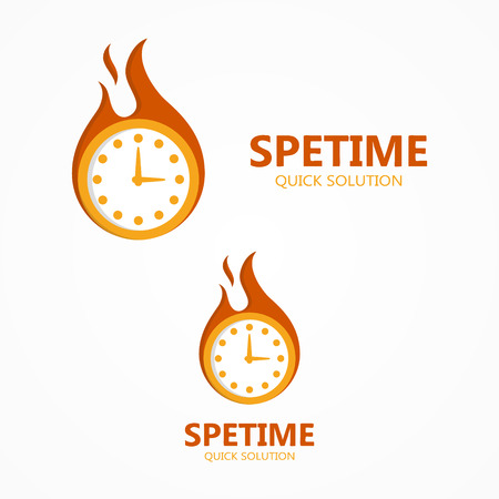 lateness: Vector  design element with business card template.