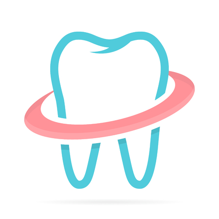dentist cartoon: Vector logo or icon design element for companies