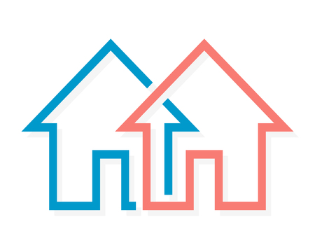 rent house: Vector logo or icon design element for companies