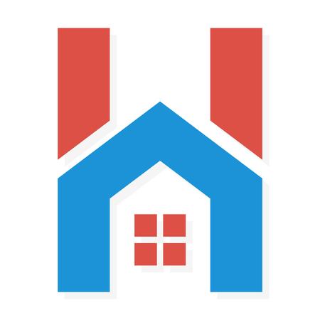 Vector logo of pictogram design element voor bedrijven Stock Illustratie