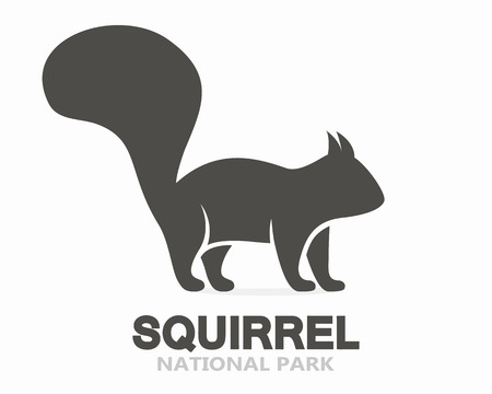 isolated squirrel: Vector logo or icon design element for companies