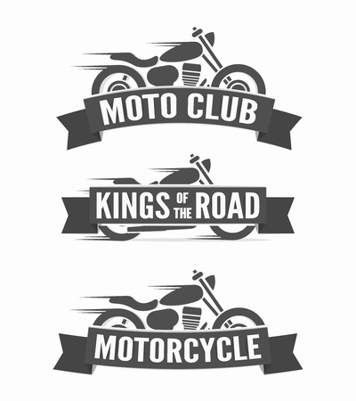 motorcycle: Vector or icon design element for companies Illustration