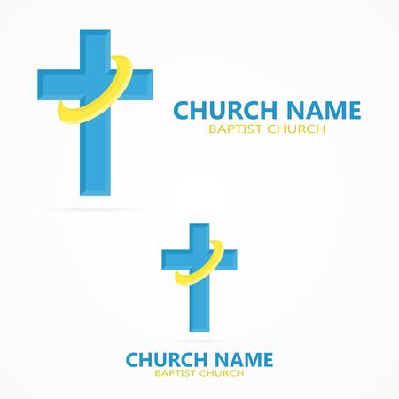 jesus on the cross: Vector or icon design element for companies Illustration