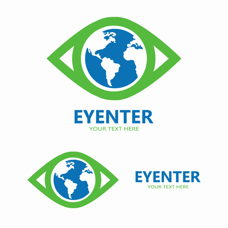 beautiful eyes: Vector or icon design element for companies Illustration