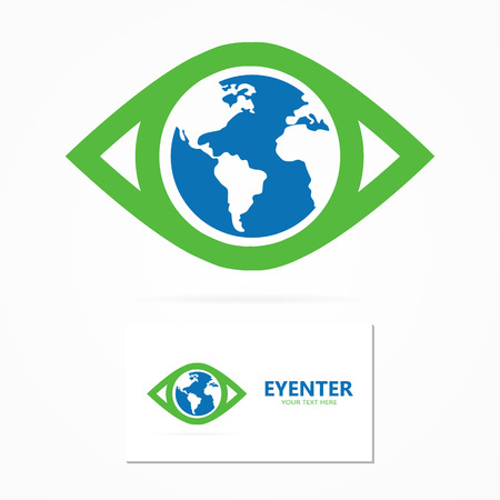 optical people person planet: Vector or icon design element for companies Illustration