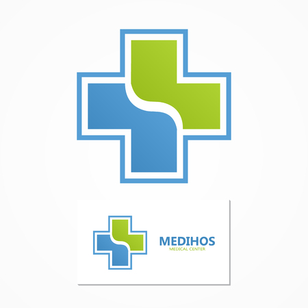 medical cross symbol: Vector or icon design element for companies Illustration