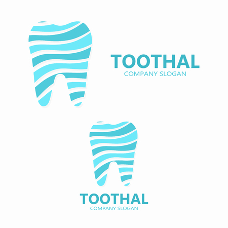 beautiful smile: Vector logo or icon design element for companies