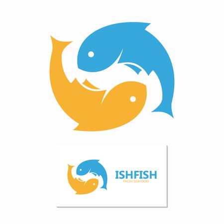 sardine: Vector Logo oder Icon Design-Element f�r Unternehmen
