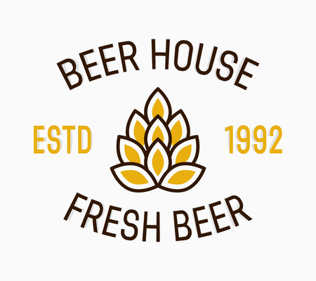 brewing house: Vector logo or icon design element for companies