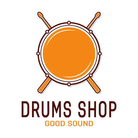 drum and bass: Vector logo or icon design element for companies