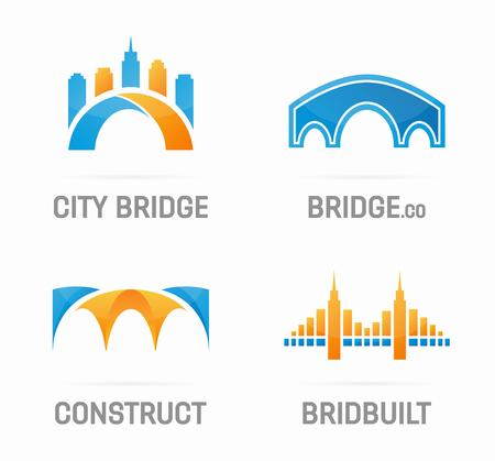 bridges: Vector logo or icon design element for companies