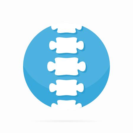 espina dorsal: Vector logo o icono elemento de diseño para empresas