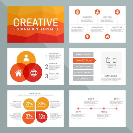 Vectormalplaatje voor presentatiedia's met grafieken en grafieken