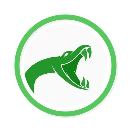 serpiente cobra: Vector icono o elemento de dise�o para empresas