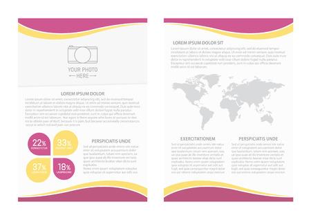 magazine design: template design. For business brochure, leaflet or magazine cover