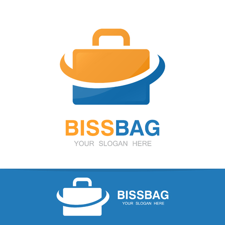 travel bag: Vector logo or icon design element for companies