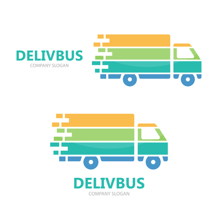camion: Vector logo or icon design element for companies