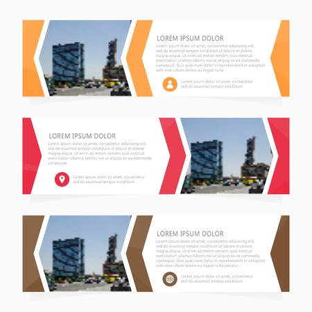 web template: Set of business design banner template. Web banner. Header layout template.