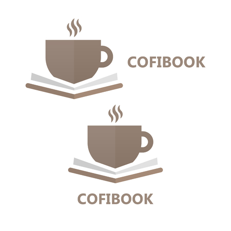 drink coffee: Vector logo or icon design element for companies