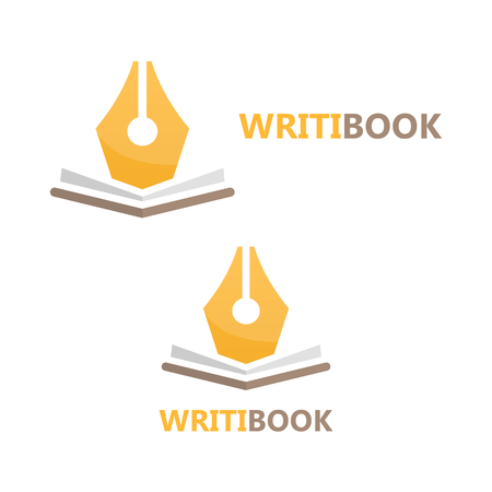 writer: Vector logo or icon design element for companies