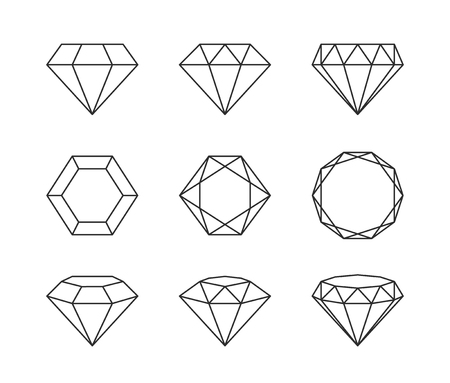 ruby stone: Vector logo or icon design element for companies