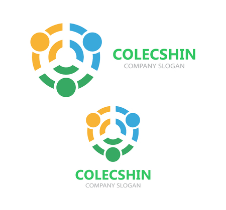 linking: Vector logo or icon design element for companies