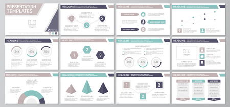 green power: Set of purple elements for multipurpose presentation template slides with graphs and charts. Leaflet, corporate report, marketing, advertising, annual report, book cover design.