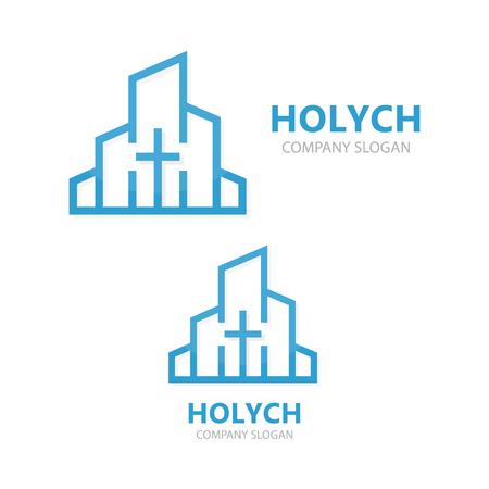 教会ロゴのデザイン。 写真素材