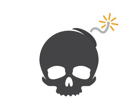 dinamita: design combination of a skull and bomb. Skull and bomb symbol or icon