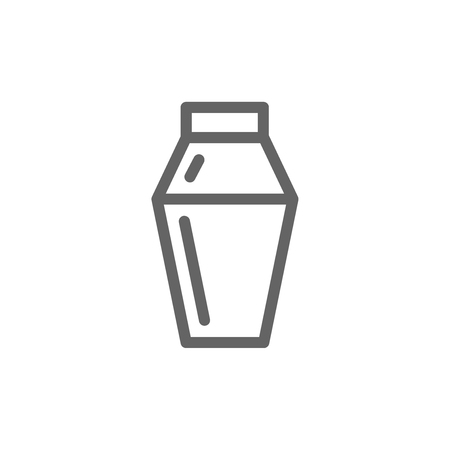 Simple cocktail shaker line icon. Symbol and sign vector illustration design. Editable Stroke. Isolated on white background Illustration