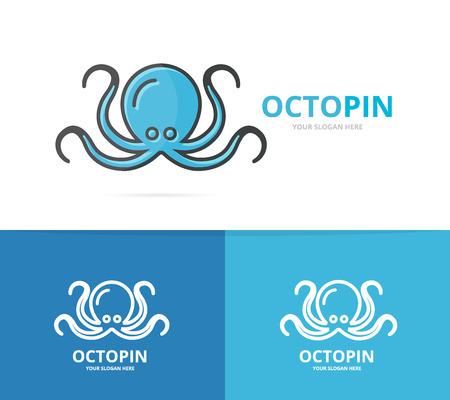 devilfish: Vector of octopus emblem Illustration