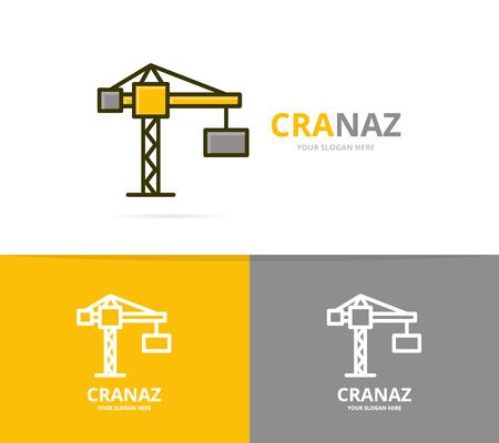 Crane and construction logo design template. Illustration