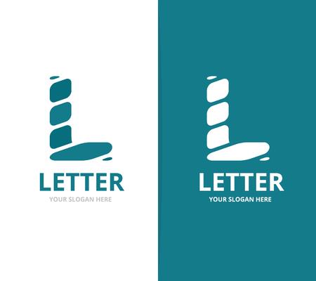 modern office: Unique vector letter L design template. Illustration